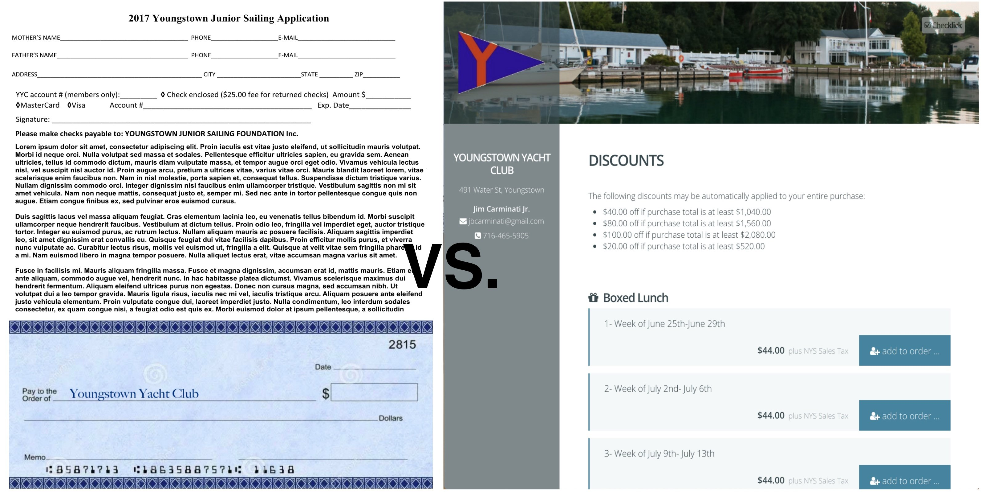 How a yacht club made more money with online registration