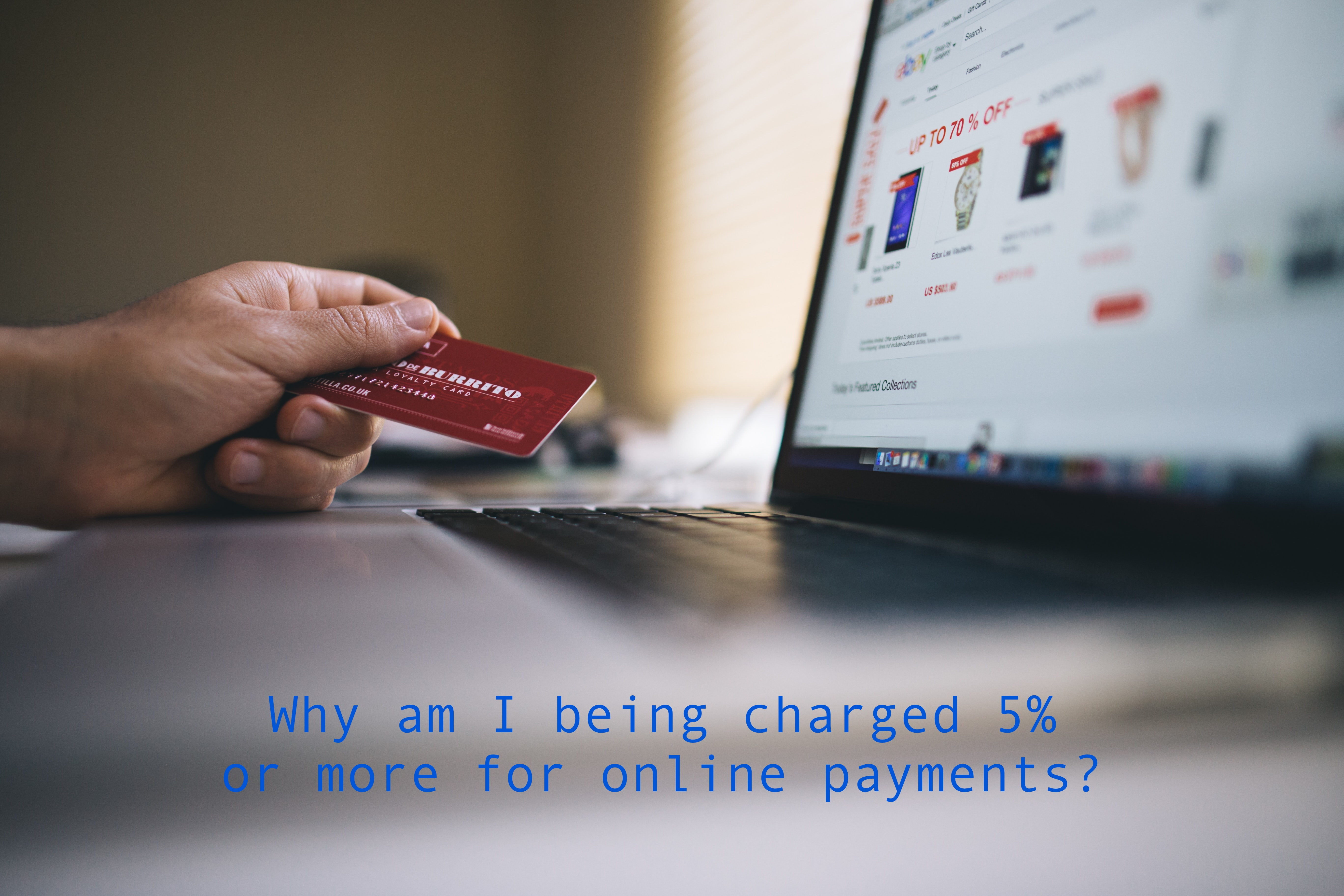 Why do online systems charge between 3 and 10 or more percent?